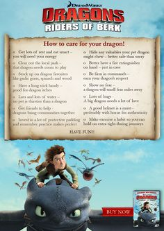 I helped write this. How to Care for Your Dragon. A basic guide.