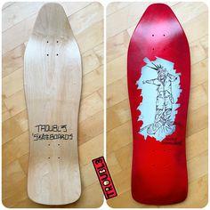 Custom Skateboard Deck - TROUBL3 SKATEBOARDS | TROUBL3 Skateboards Custom Skateboard Decks, Custom Skateboards