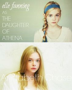 My Percy Jackson dream cast: Elle Fanning as Annabeth Chase (maybe slightly more intense looking eyes/angrier eyebrows, but besides that she's perfect for Annabeth!!)