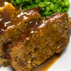 This meatloaf and gravy recipe uses both ground beef and ground pork, with some complimentary spices and the recipe also includes an easy to do gravy.  . Meatloaf And Gravy   Recipe from Grandmothers Kitchen.