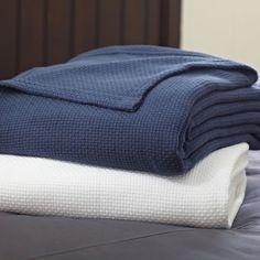 PBteen Classic Cotton Blanket   PBteen  #OnlineShopping  #CollegeDormRoom  #CollegeBedding