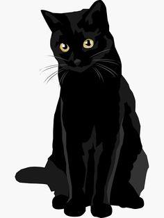Pegatina «Gato negro» de bluhak | Redbubble