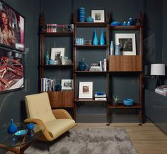 Walker Tower – Artful Living by David Scott Interiors City Living, Art Of Living, Living Room, Chelsea New York, Wall Finishes, Two Bedroom, Textured Walls, Bookcase, Cool Designs