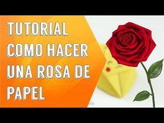 Cómo hacer rosas de papel crepe fáciles - Manualidades de Lina - YouTube