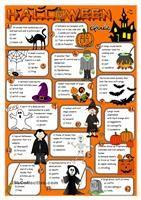 various worksheets @ Halloween