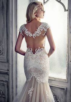 Featured Dress: Calla Blanche; Wedding dress idea.