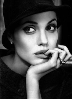 Angelina Jolie Portrait Cinema print on canvas, print on wood, print on steel or print on paper Pretty People, Beautiful People, Most Beautiful, Beautiful Women, Beautiful Person, Absolutely Gorgeous, Amazing Women, Beautiful Pictures, Black And White Portraits