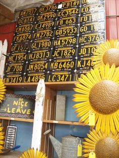 nice big board of indiana license plates for headboard? Licence Plates, Old License Plates, License Plate Art, Street Signs, Antique Stores, Store Design, Back Home, Old And New, Mud