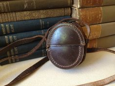 Antique Canadian Handsewn Leather Pocket Watch by JansVintageStuff, $132.25