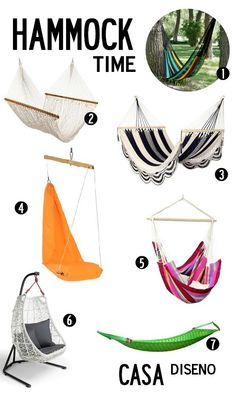 Decoration Inspiration: Hammock Time #hammock #homedecor #outdoor #furniture