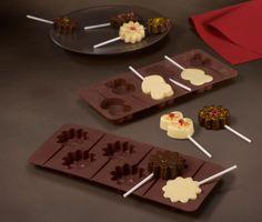 Mmmmmh, #Schokolade! Für einfaches #Selbermachen von #Lollis in Doppelherz- und Blumenform:  Schokoladenformen für €5,95 bei #Tchibo