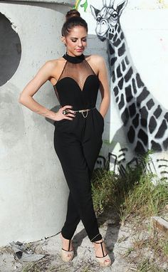 Fabulous jumpsuit.. wish I knew where she got this; would buy in a heartbeat!