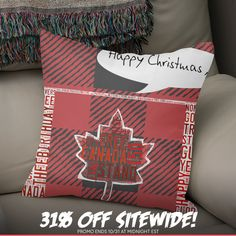 Discover «Canadian Flag Christmas», Exclusive Edition Throw Pillow by Deb Quigg - From $29.5 - Curioos