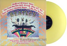 Beatles - Magical Mystery Tour (Parlophone; 1978) Limited edition UK pressing on yellow vinyl issued in 1978. #records #vinyl #album #LP   Click here to learn more about this record: http://www.rarerecords.net/store/beatles-magical-mystery-tour-1978-limited-edition-uk-yellow-vinyl-lp/