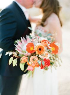 #bouquet Photography by josevillaphoto.com  Read more - http://www.stylemepretty.com/2012/12/10/joshua-tree-elopement-from-jose-villa-photography-kristeen-labrot-events/