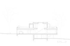 Humlehaugvegen 22 (2007) – ARC arkitekter Section Drawing, Floor Plans, Diagram, How To Plan, Drawings, Drawing, Portrait, Floor Plan Drawing, Illustrations