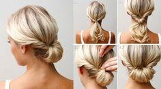 Simple Frisur passen zum verzieren mit Blumenkranz oder anderen Blümchen