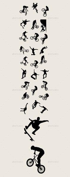 Bike Sport Silhouettes by martinussumbaji Bike Sport Silhouettes, art vector design. Ai CS, JPEG and EPS.