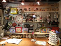 Like the pegboard storage & cubby on a turntable