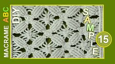 Floral motifs - Flowers, ornaments, decorations for clothes or for something else that you like.. Macrame design elements for various useful macrame projects. See more patterns: http://www.youtube.com/playlist?list=PLvEwzzlTrsR-ZYluK40H-aqHr0JXeeIm1