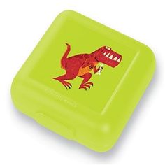 Crocodile Creek T-Rex Sandwich Keeper  has solid construction that prevents crushing of food inside it.