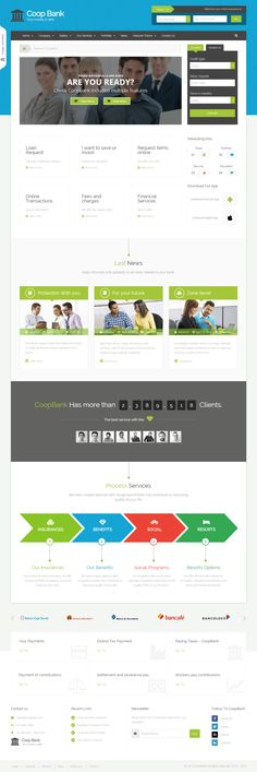 COOPBANK – Corporate template for – Banking,Financial,Credits, cooperatives. Clean, modern and professional design.