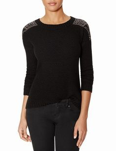 Sparkle Shoulder Sweater from THELIMITED.com #TheLimited #TheSweaterShop