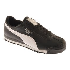 f2e9be38a11 Men s PUMA Roma Basic - Black White Puma Silver Sneakers