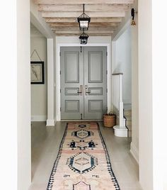contemporary home decor to not miss 2 ~ mantulgan.me contemporary home decor to not mi. Interior Door Colors, Interior Exterior, Home Interior Design, Exterior Design, Entryway Runner, Entryway Decor, Entryway Ideas, Door Entryway, Style At Home
