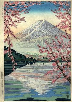 Mt Fuji (2), by Koichi Okada -- See more on Mt Fuji in Japanese Art at: http://www.koitsu.com/Fuji/Fuji.htm