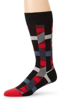 HUGO BOSS Men's Abstract Geometric Pattern Dress Mid Calf Sock « Shoe Adds for your Closet