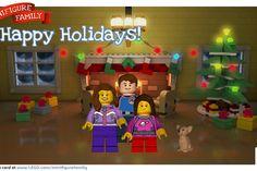 LEGO custom holiday ecard -- turn your family into LEGO minifigs!