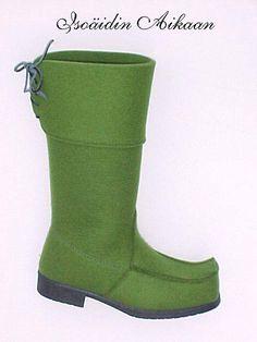Northern lights - felt lappish boots