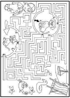 Activités imprimables Labyrinthes 89