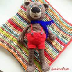 Wrapping these for a new little baby boy#crochet #crochetteddy #crochettoy #toy #teddy #blanket #knit