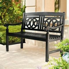 Amalfi Outdoor Bench - Neptune, 63 In. Amalfi, Porche Frontal, Building A Porch, Photoshop, Patio Umbrellas, House With Porch, Back Patio, New Home Designs, Outdoor Furniture