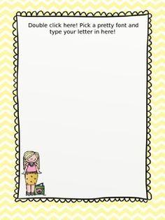 810a0e96daa76240c79512da5853fa5a--doodle-borders-yellow-chevron Teacher To Parent End Of Year Letter Template on the end of year party parent letter, first day of school teacher parent letter, end of a letter,