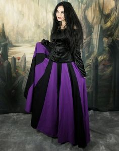 Cotton Lunalily Skirt - long cotton lycra witchy gypsy gothic steampunk skirt by Moonmaiden Gothic Clothing UK