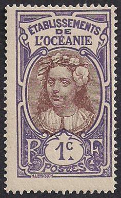 Estampilla Polinesia Francesa, 1913-1930 - Niña Tahitiana