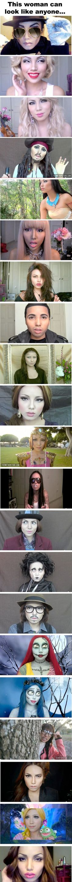Here is a series of images that show the power of makeup.