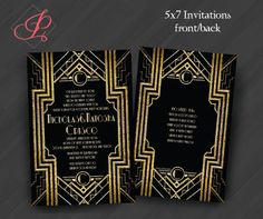 Great Gatsby Party Invitations or for Your by PrettyWithInkInvites, $20.00