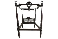 19th-C. English Colonial Canopy Bed