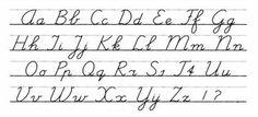 CURSIEVE LETTERS (schuine letters)