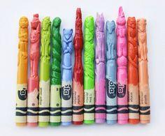 Crayon Portrait Sculptures by Diem Chau