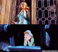 Cinderella (1950) and Cinderella (2015) shot comparisons