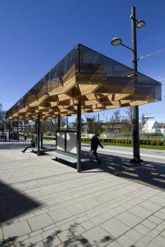 University Boulevard Transit Shelters by PUBLIC Architecture + Communication