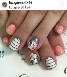 Girls like to decorate their nails, so if you want to find some new nail designs this season, look at the 15 Beautiful Spring Nail Arts That You Should Copy. The idea of spring nails is colorful and Spring Nail Art, Spring Nails, Summer Nails, Spring Art, Fancy Nails, Trendy Nails, Flower Nail Art, Bird Nail Art, Nagel Gel