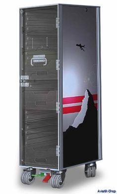 Skyboxx Flugzeugtrolley Aluminium Schwarz