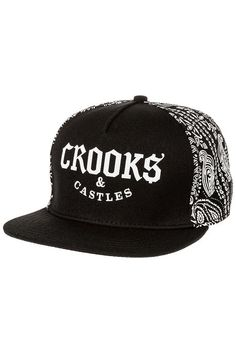 9260fad1d15 Crooks and Castles Hat The Bandit Snapback in Black