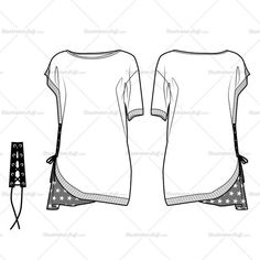 *Asymmetric sleeves and hem*Hem sewn printed fabrics